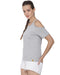 Solid Women's Round Neck Grey Top