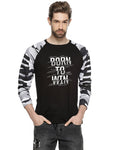 Printed Men Round or Crew Black T-Shirt