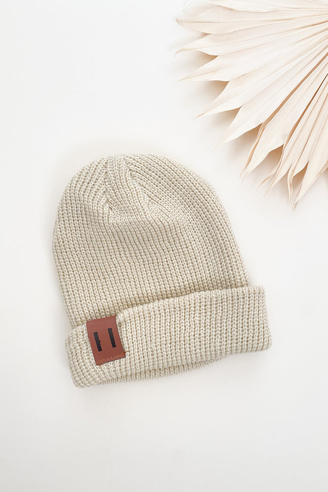 Load image into Gallery viewer, Cream Beanie