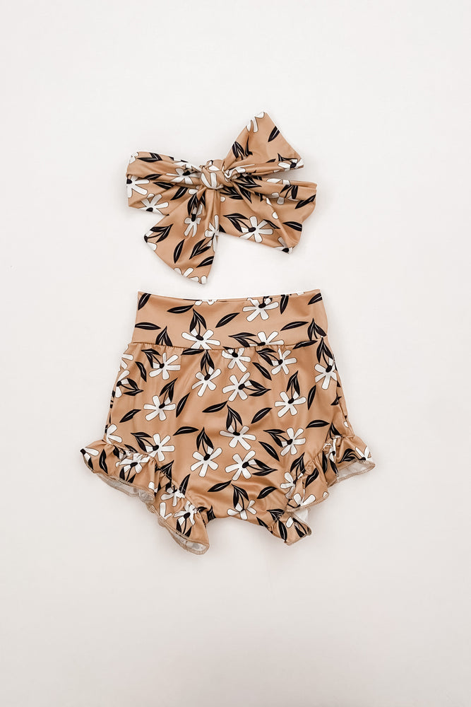 Floral Bloomers + Bow