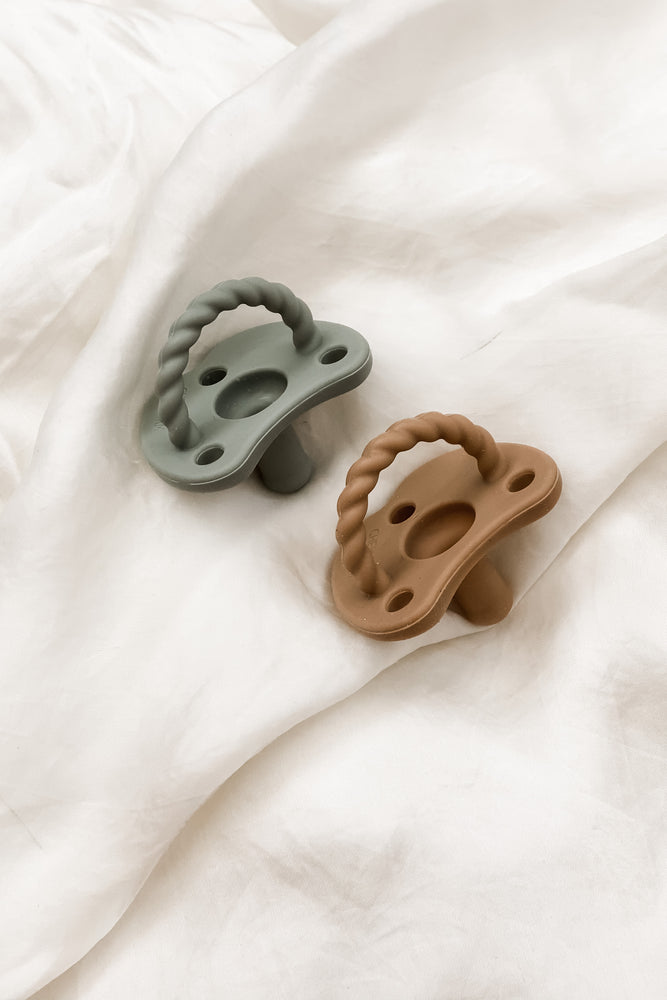 2 pack Pacifier| Sage + Almond