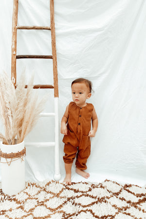 Load image into Gallery viewer, Cinnamon Ribbed Jumpsuit
