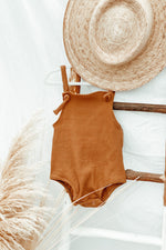 Almond Ribbed Romper