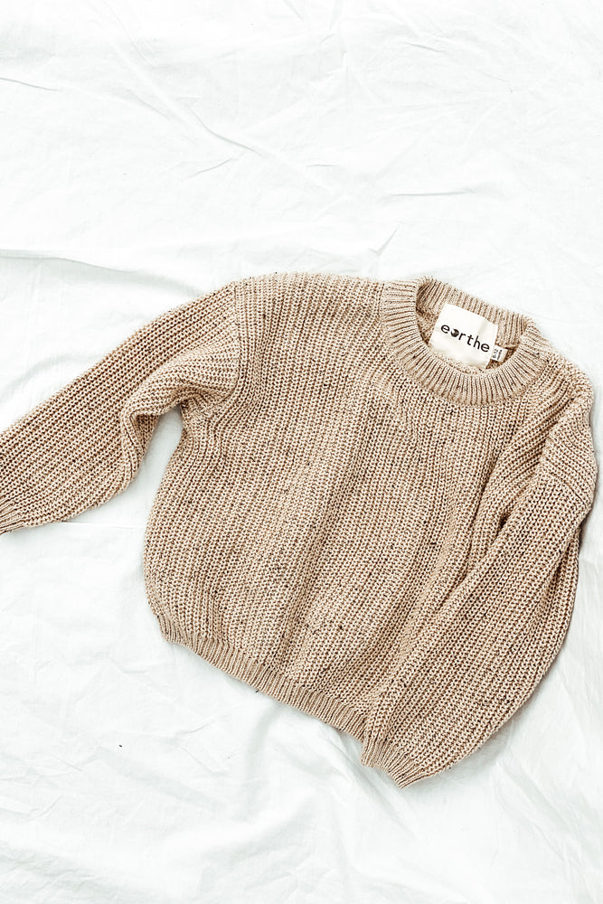Tan Sprinkle Knit Sweater