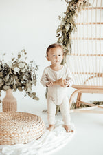 Cream Ribbed Onesie