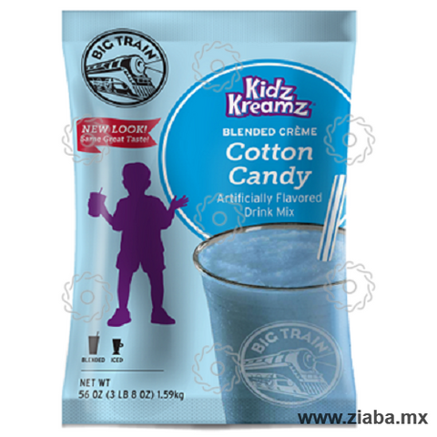 Algodón de Azúcar (Cotton Candy) Kidz Cream Frappé - Big Train - Ziaba Gourmet