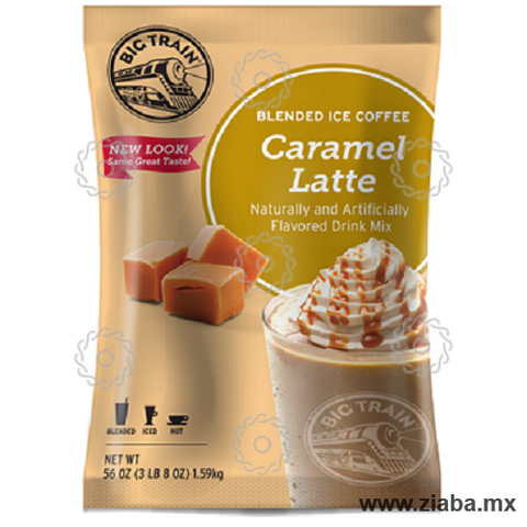 Caramelo Latte Blended Ice Coffee - Big Train - Ziaba Gourmet