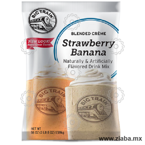 Fresa Plátano (Strawberry Banana) Blended Crème - Big Train - Ziaba Gourmet