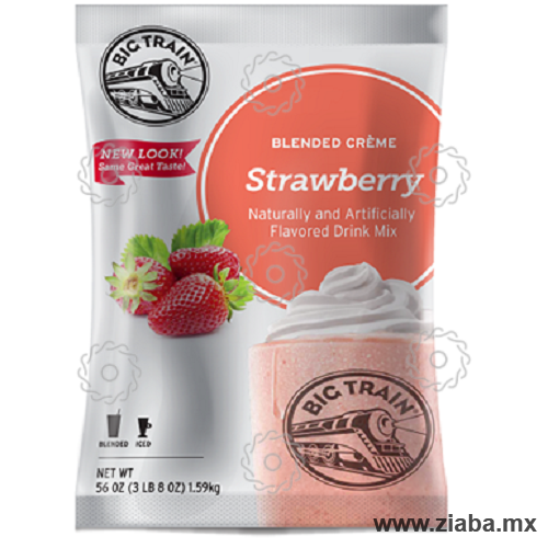 Fresa (Strawberry) Blended Crème - Big Train - Ziaba Gourmet