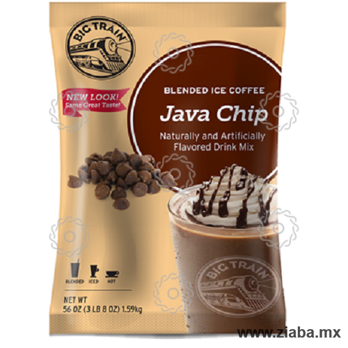 Java Chip Blended Ice Coffee - Big Train - Ziaba Gourmet