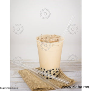 Popote Biodegradable de PLA estuchado para tapioca - 23cm x 10mm - Karat Earth