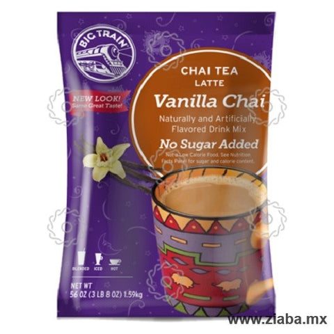 Té Chai Vainilla Latte sin Azúcar - Big Train