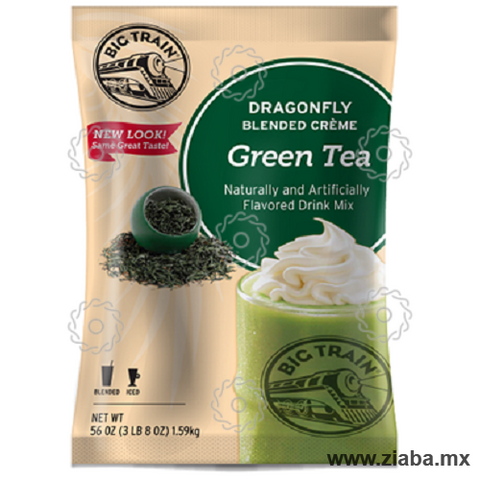 Té Verde (Green Tea) Dragonfly Blended Crème Frappé - Big Train - Ziaba Gourmet