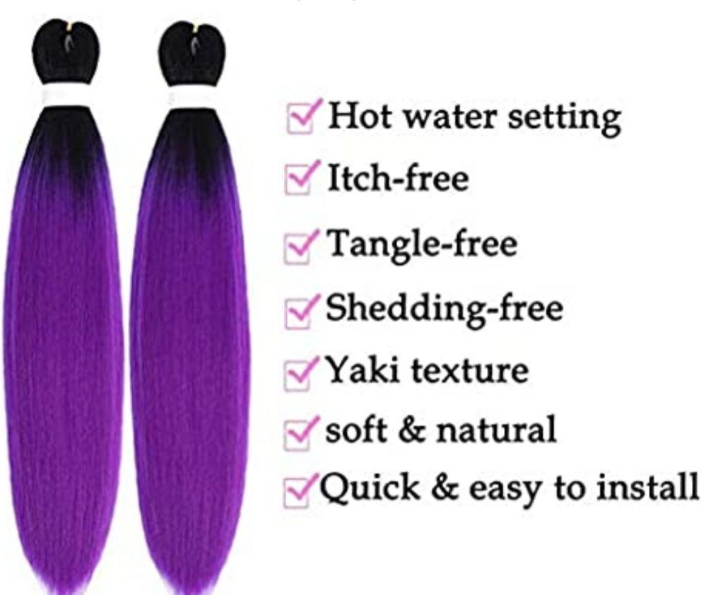 Xclusive Beauty Grape colored braiding hair