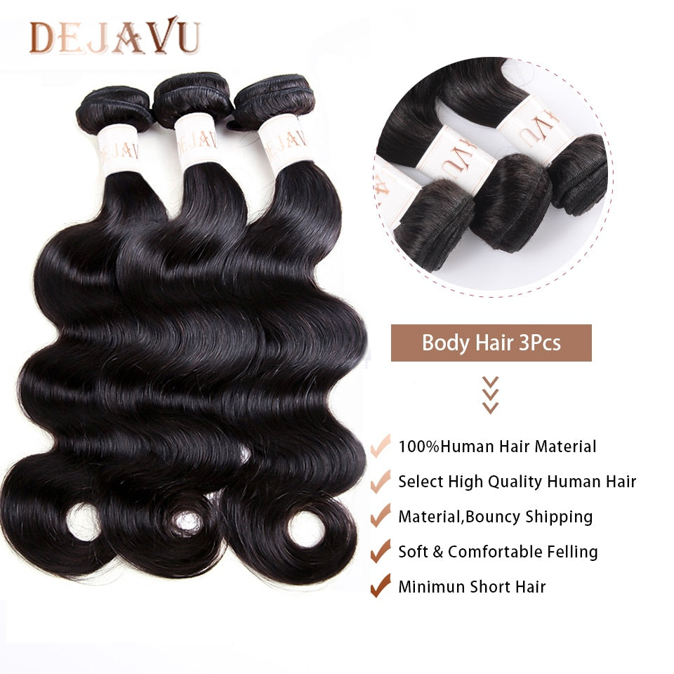 Human hair body wave hair extensions
