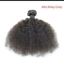 Load image into Gallery viewer, afro kinky natural human hair  bundle weave hair extensions