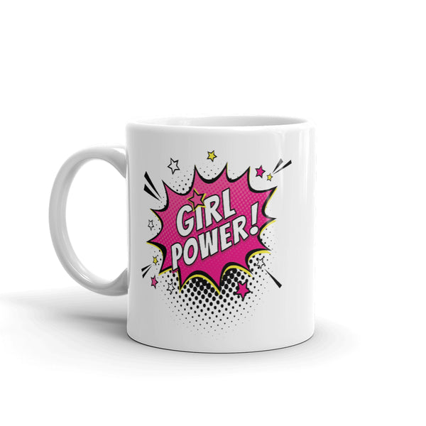 Girl Power 'COMIC' Ceramic Tea & Coffee Mug
