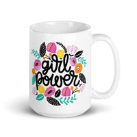 Girl Power 'FLORAL' Ceramic Tea & Coffee Mug