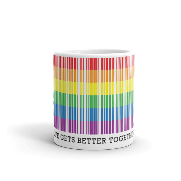 'Life Gets Better Together' Ceramic Tea & Coffee Mug