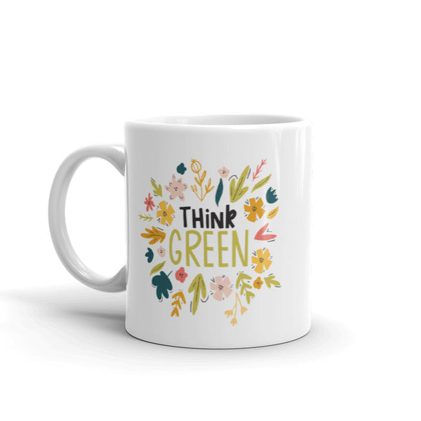 'THINK GREEN' Ceramic Tea & Coffee Mug