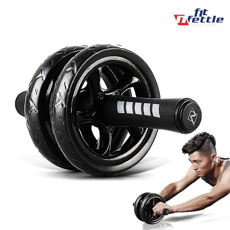 Double-Wheeled Abdominal Roller - FitnFettle
