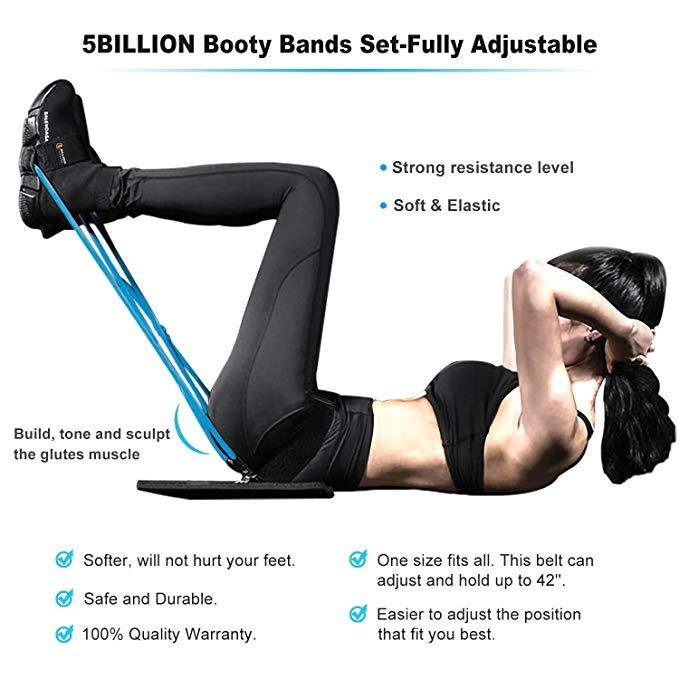 Waist Belt Elastic Bands Pedal Exerciser - FitnFettle