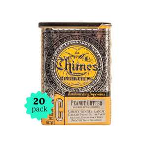2oz Tin Peanut Butter Ginger Chews- 20 Tin