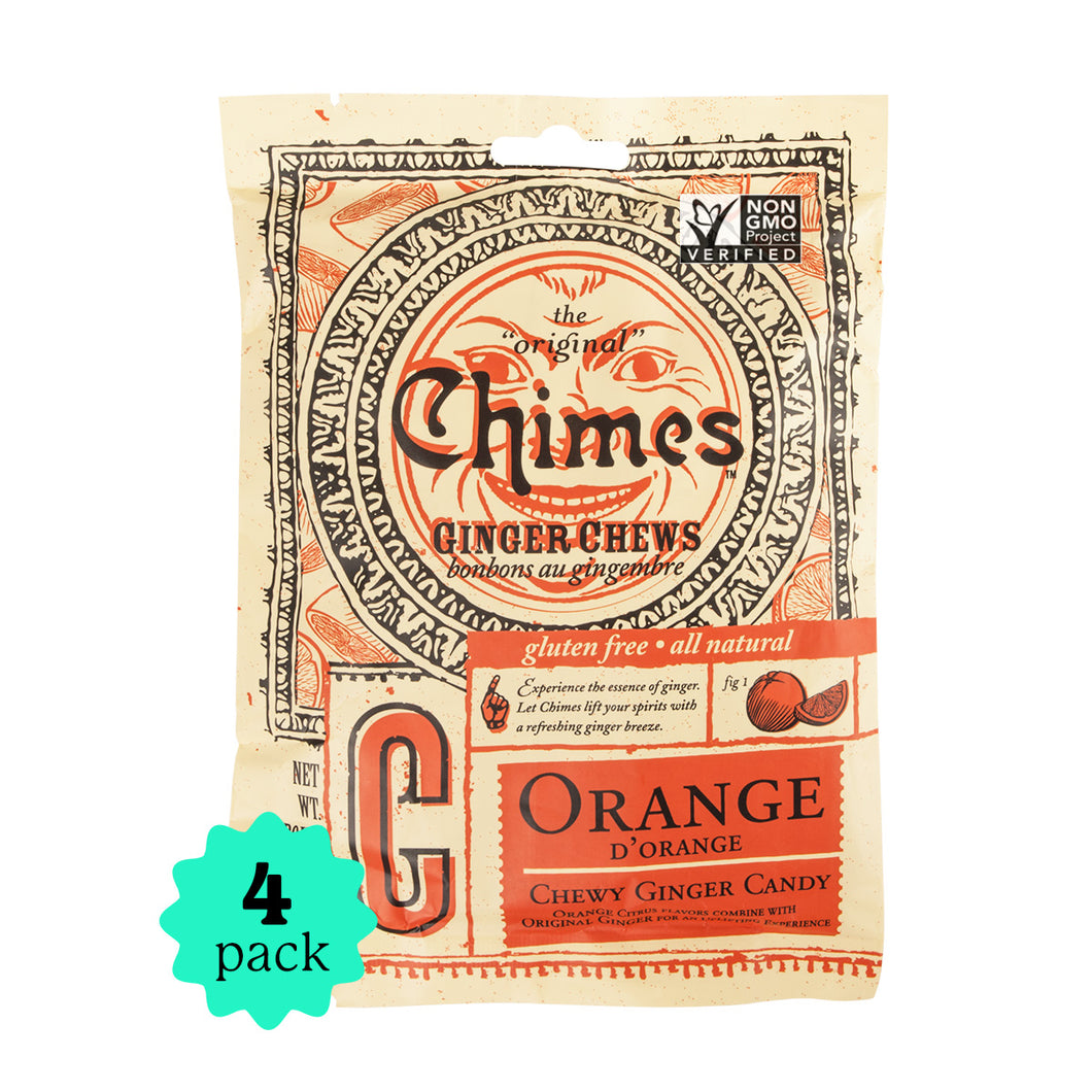 Chimes Ginger Chews | Orange | 4-Pack | 5oz