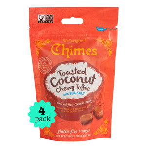 Chimes Chewy Toffee | Toasted Coconut with Sea Salt | 4-Pack | 2.8oz