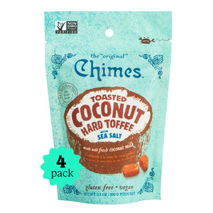 Chimes Hard Toffee |Toasted Coconut with Sea Salt | 4-Pack | 3.5oz