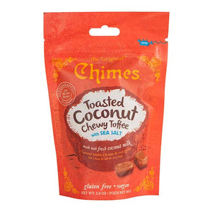 Chimes Gourmet Toasted Coconut Chewy Toffee, 4-Pack 2.8oz
