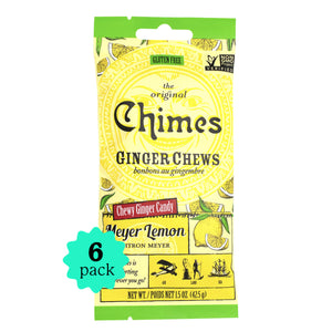 Chimes Ginger Chews | Meyer Lemon | 6-Pack | 1.5oz