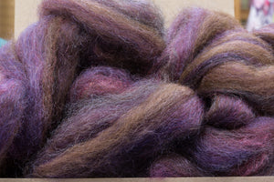 Roving 50% Mohair 50% Wool Teal Luster