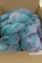 Load image into Gallery viewer, Roving 50% Mohair 50% Wool Teal Luster