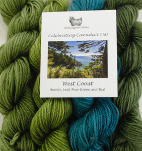 Celebrating Canada's 150 Yarn Colour Sampler