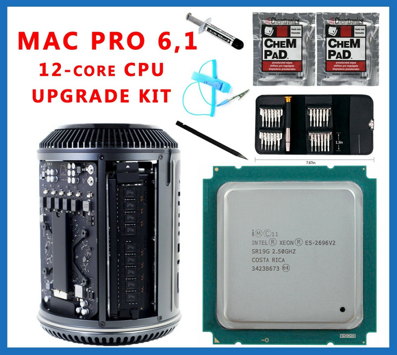 Apple Mac Pro 6.1 Late 2013 2.5GHz E5-2696 v2 12-Core Xeon CPU Upgrade kit