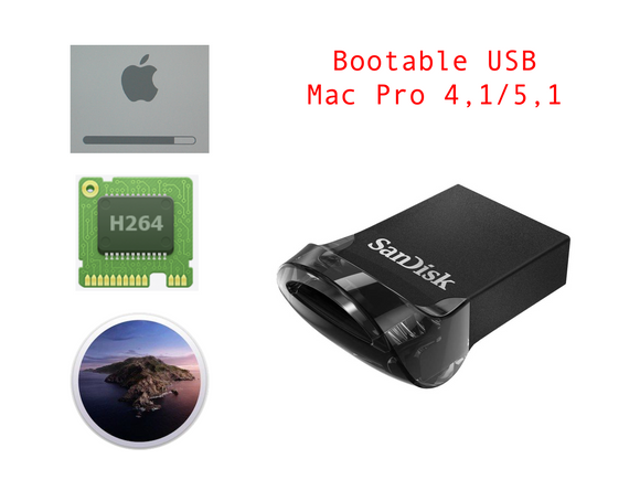 Bootable USB Disk Mac Pro 4,1 5,1 Boot Screen Catalina