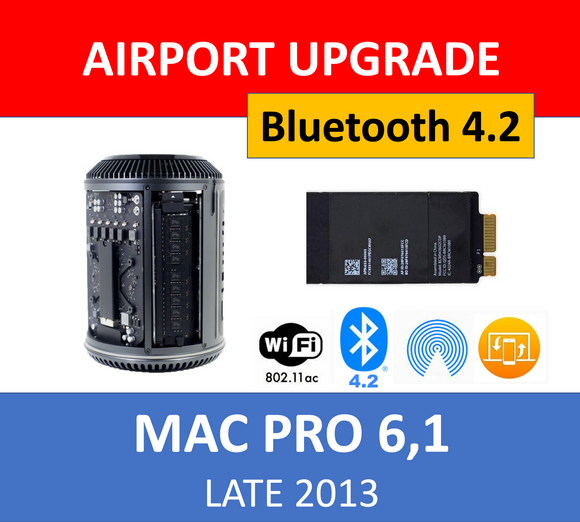 Genuine Apple WiFi Bluetooth 4.2 Upgrade Kit for Mac Pro 6,1 Late 2013