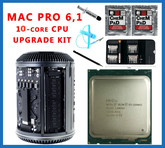 Apple Mac Pro 6.1 Late 2013 3.0GHz E5-2690 v2 10-Core Xeon CPU Upgrade kit