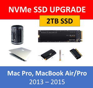 WD Black 2TB NVMe SSD Mac Pro 2013 MacBook Air/Pro 2013 2014 2015 Upgrade Kit