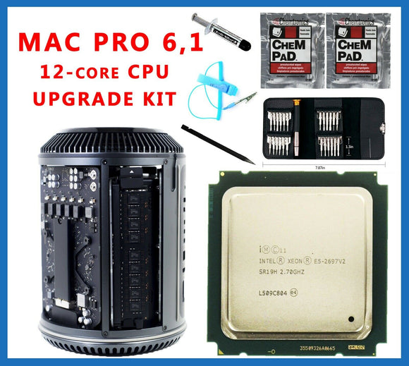 E5-2697 v2 12-Core 2.7GHz Xeon CPU Mac Pro 6.1 Late 2013 Upgrade kit