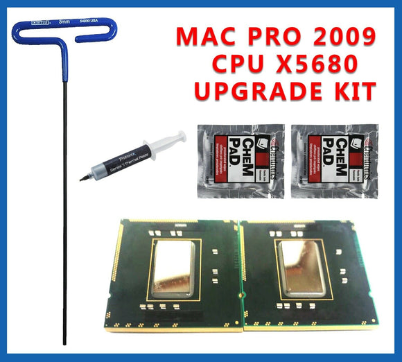 Delidded Pair X5680 3.33GHz XEON CPU Mac Pro 4,1 upgrade kit