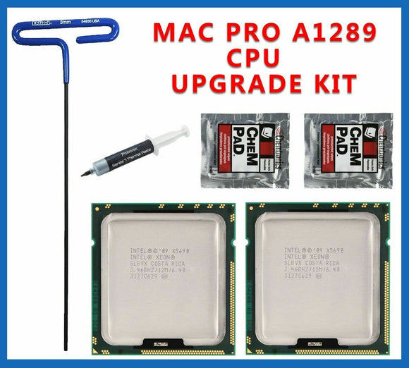 Pair X5690 3.46GHz XEON CPU Mac Pro 5,1 2010 2012 upgrade kit