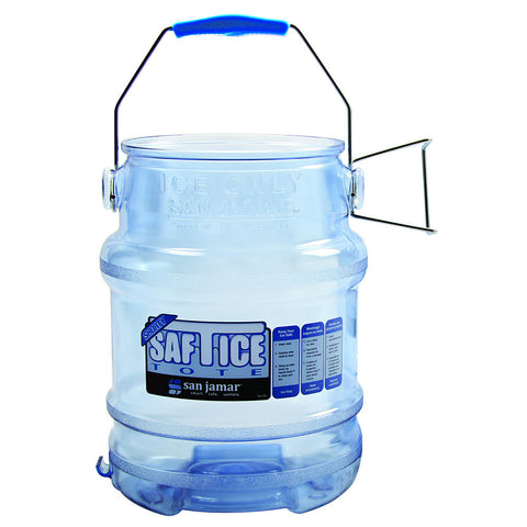 Round Ice Tote w/ 6 gal Capacity, Clear Blue