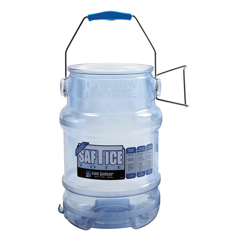 Round Ice Tote w/ 5 gal Capacity, Clear Blue