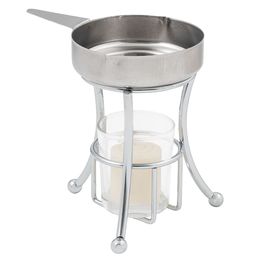 Butter Warmer w/ 3 1/2 oz. Capacity Cup, Chrome/Stainless