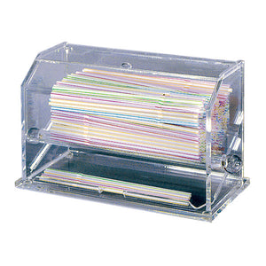 "Straw Dispenser - 11x5 1/2x6 3/4"" Clear Acrylic"