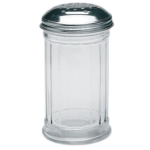 12 oz Cheese Shaker w/ Chrome-Plated Top, Glass