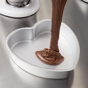 "Wilton Decorator Preferred 8"" x 2"" Aluminum Heart-Shaped Cake Pan"