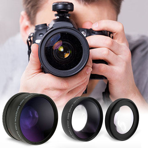 Wide Angle and Macro Lens Set for Cameras